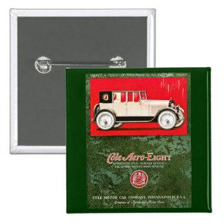 Cole Aero-Eight Vintage Car Ad Pinback Button