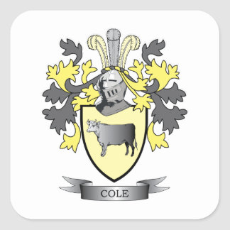 Cole Coat of Arms Square Sticker