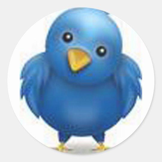 Coleção Twitter Classic Round Sticker