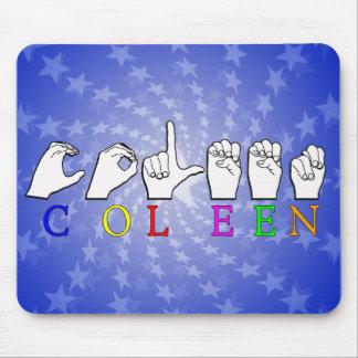 COLEEN FINGERSPELLED ASL NAME SIGN MOUSE PAD
