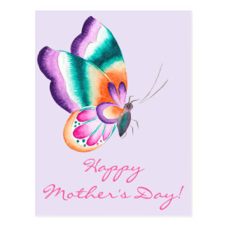 Colerful Butterfly   Mother's Day Postcard