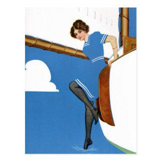 Coles Phillips Fadeaway - Sailing On Blue Oceans Postcard