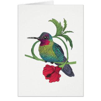 Colibri Bird Illustration Card