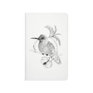 Colibri Bird Illustration Pocket Journal