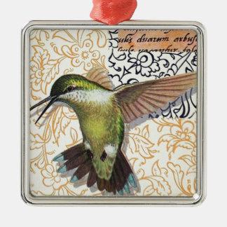 Colibri - Christmas Adornment Squared De Metal Silver-Colored Square Ornament