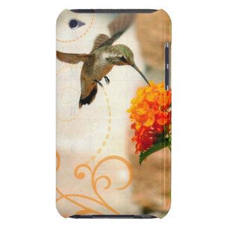 colibri de fleur de pêche de cas de contact d'iPod Étuis iPod Touch
