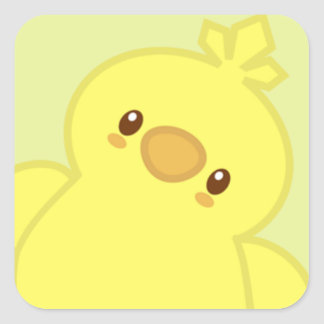Colin the Chick Square Sticker