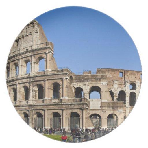 Colisé romain assiettes