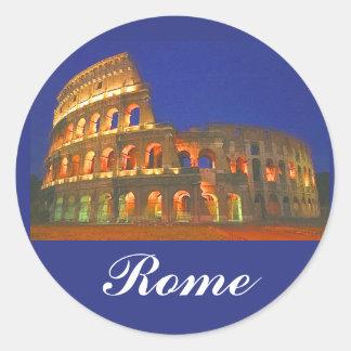 Colisé romain autocollants ronds