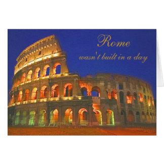 Colisé romain carte de vœux