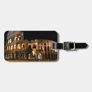 Colisé romain étiquettes bagages