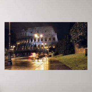 Colisé romain la nuit poster