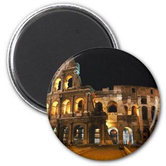 Colisé romain magnet rond 8 cm