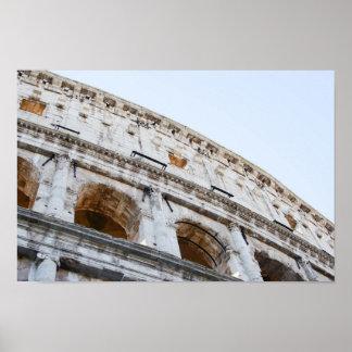 Colisé romain pendant le matin poster