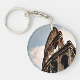 Colisé romain porte-clé rond en acrylique une face