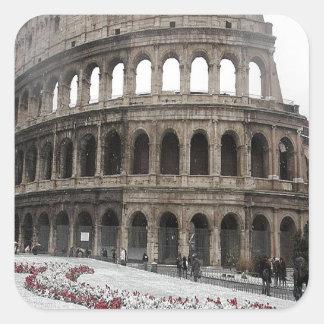 Colisé romain sticker carré