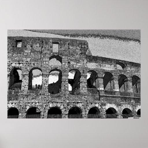 Colisé romain sur la toile posters