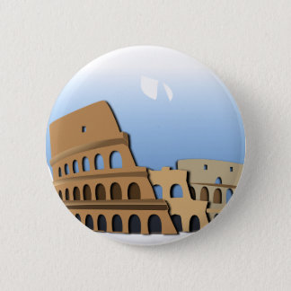 Coliseo Roma Rome Ancient Coliseum History Italy 2 Inch Round Button