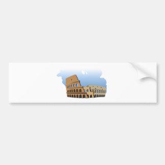 Coliseo Roma Rome Ancient Coliseum History Italy Bumper Sticker