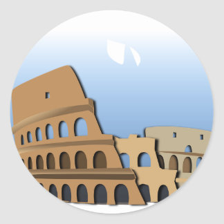 Coliseo Roma Rome Ancient Coliseum History Italy Classic Round Sticker