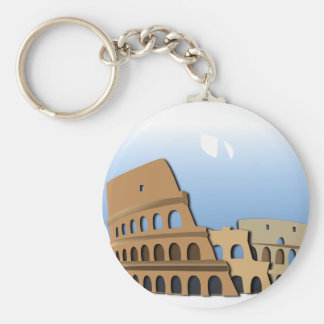 Coliseo Roma Rome Ancient Coliseum History Italy Keychain