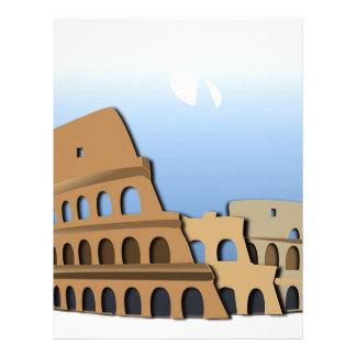 Coliseo Roma Rome Ancient Coliseum History Italy Letterhead