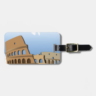Coliseo Roma Rome Ancient Coliseum History Italy Luggage Tag