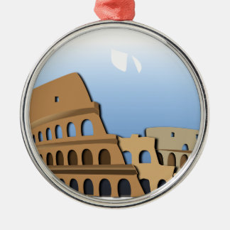 Coliseo Roma Rome Ancient Coliseum History Italy Metal Ornament