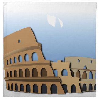 Coliseo Roma Rome Ancient Coliseum History Italy Napkin