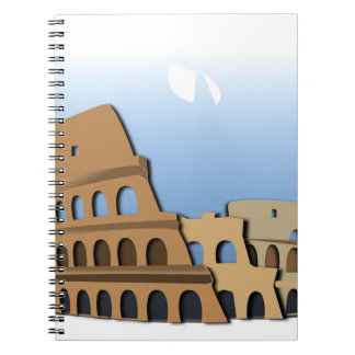 Coliseo Roma Rome Ancient Coliseum History Italy Notebook