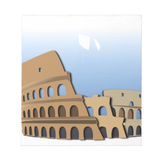 Coliseo Roma Rome Ancient Coliseum History Italy Notepad