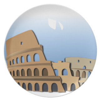 Coliseo Roma Rome Ancient Coliseum History Italy Plate