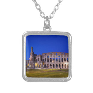 Coliseum, Roma, Italy Silver Plated Necklace