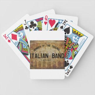 Colisseum Scripture Art - The Italian Band Poker Deck