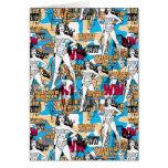 Collage 10 de femme de merveille carte de vœux