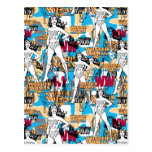 Collage 10 de femme de merveille carte postale