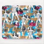 Collage 10 de femme de merveille tapis de souris
