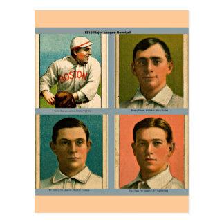 Collage 1910 de Ligue Majeure de Baseball de cru Cartes Postales