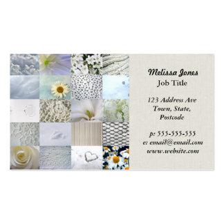 Collage blanc de photographie carte de visite standard