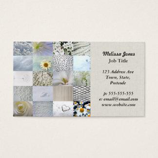 Collage blanc de photographie cartes de visite