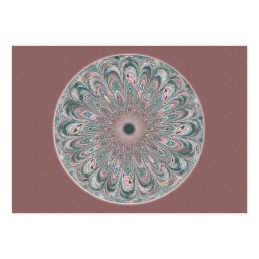 Collage Blossom Mandala Artist Trading Card - ACEO Business Card