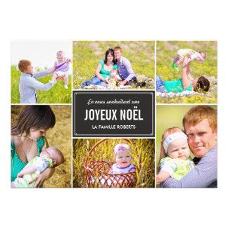 Collage cartes de photo de vacances de style custom invite