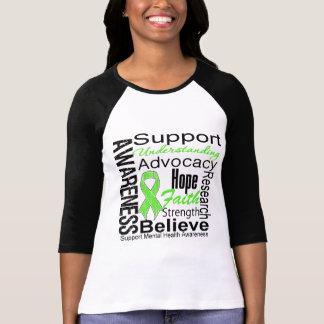 Collage - conscience de santé mentale t-shirts