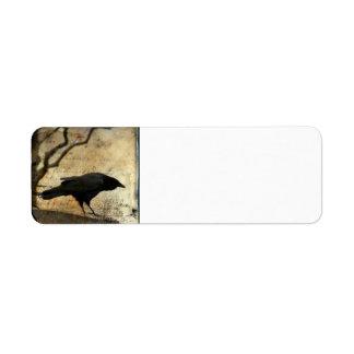 Collage crow return address label