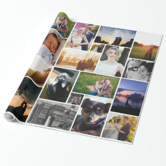 Collage Custom Personalized Photo Wrapping Paper