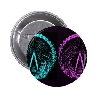 Collage d oeil de Londres Badge Avec Épingle