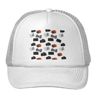 Collage d'appareil-photo sur le blanc casquettes de camionneur