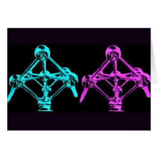 Collage d'Atomium-I Carte De Vœux