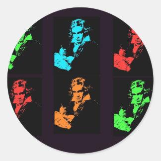 Collage de Beethoven Autocollants Ronds