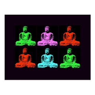 Collage de Bouddha Carte Postale